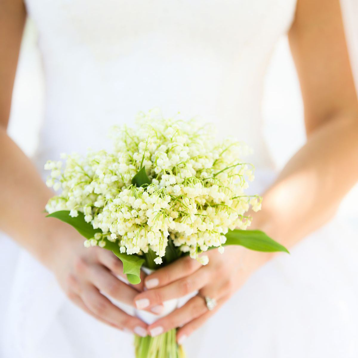 lily of the valley posy wedding bouquet