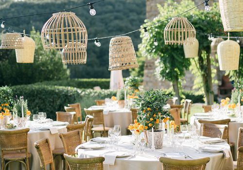 garden wedding reception in Italy