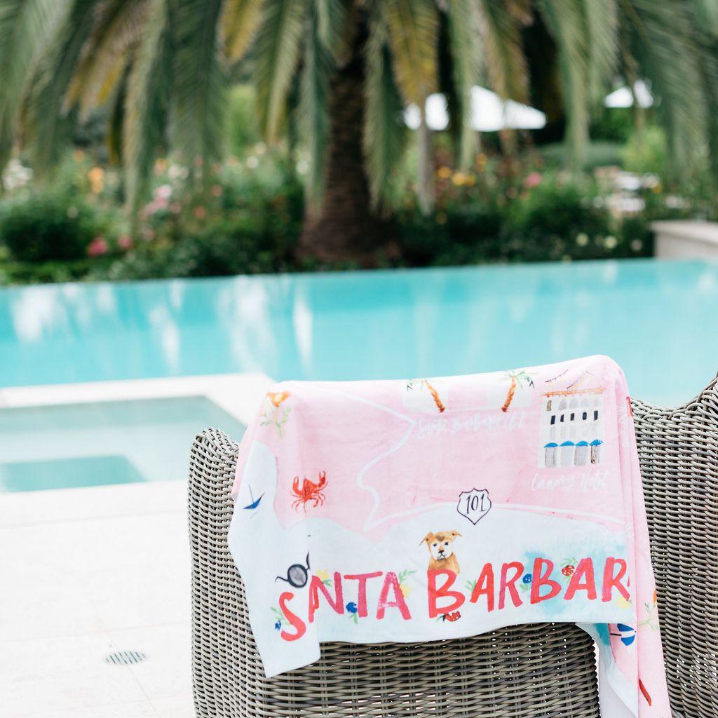 Towel near pool