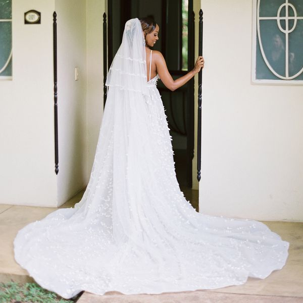 bride wearing veil