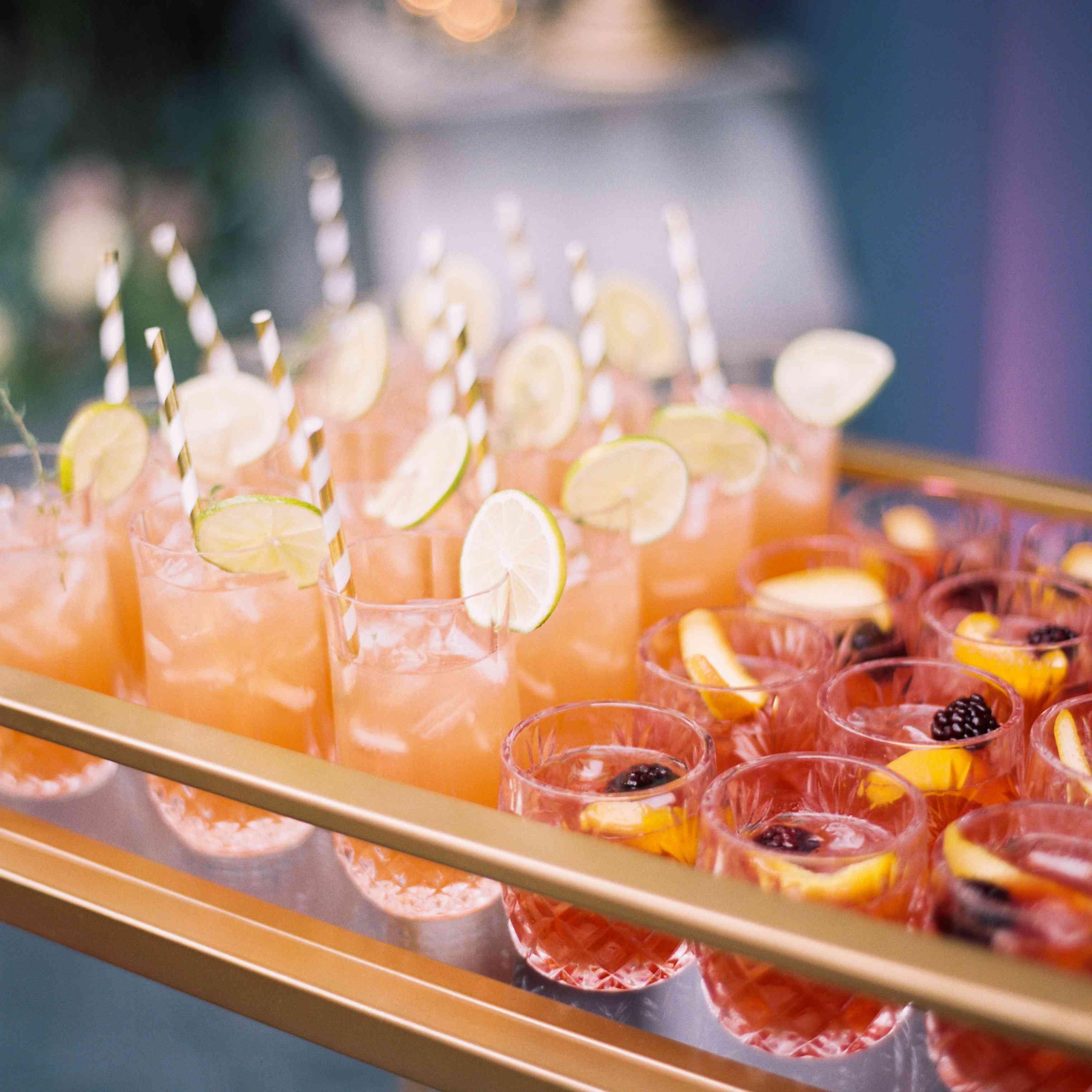 Signature cocktails detail