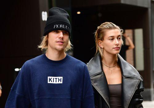 Justin Bieber and Hailey Baldwin in Brooklyn, New York.