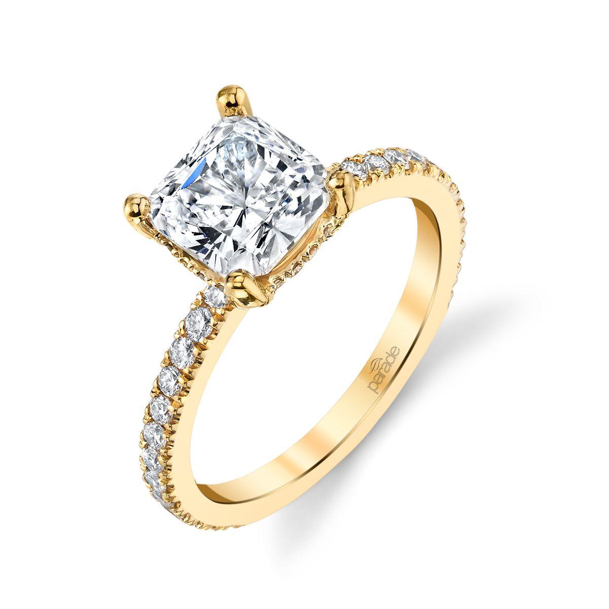 Parade Cushion-Cut Diamond Engagement Ring