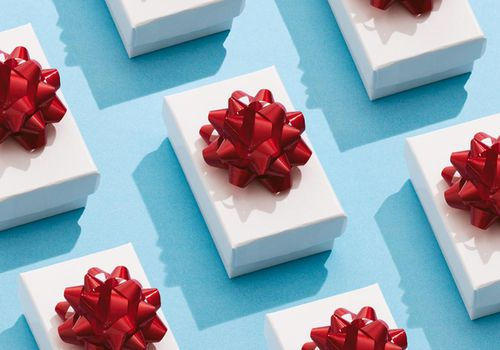 Repetitive Pattern Of Holiday Gift Boxes