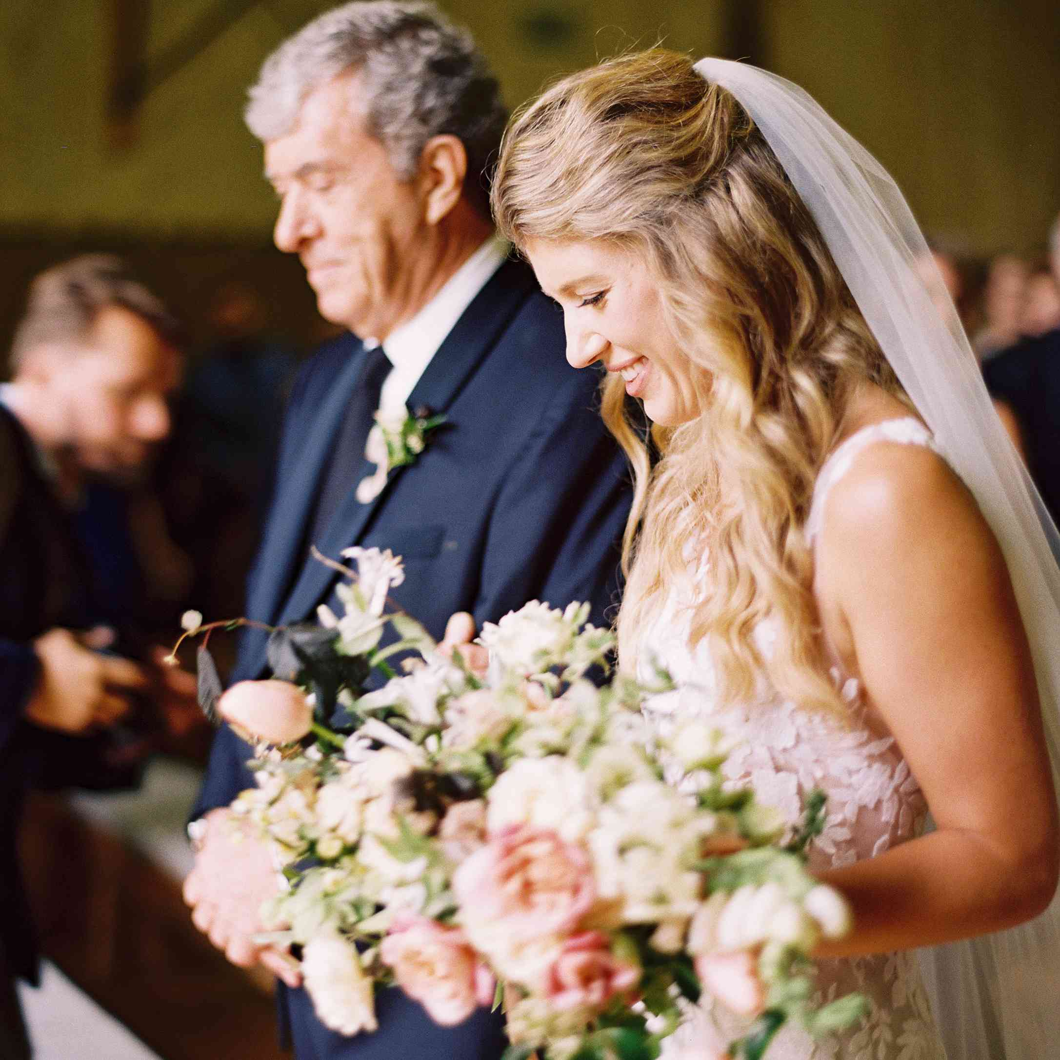 Bride with father of bride