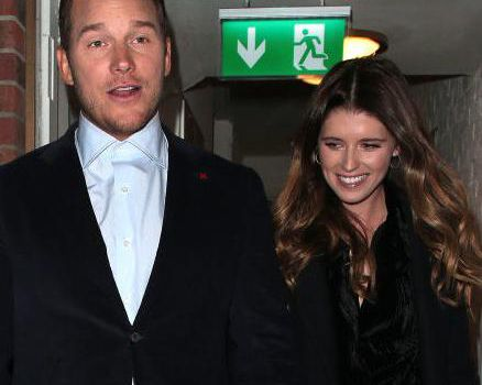 <p>Chris Pratt and Katherine Schwarzenegger seen on a night out leaving Soho House in London.</p>