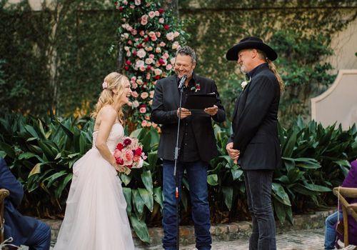 Blake Shelton officiating wedding