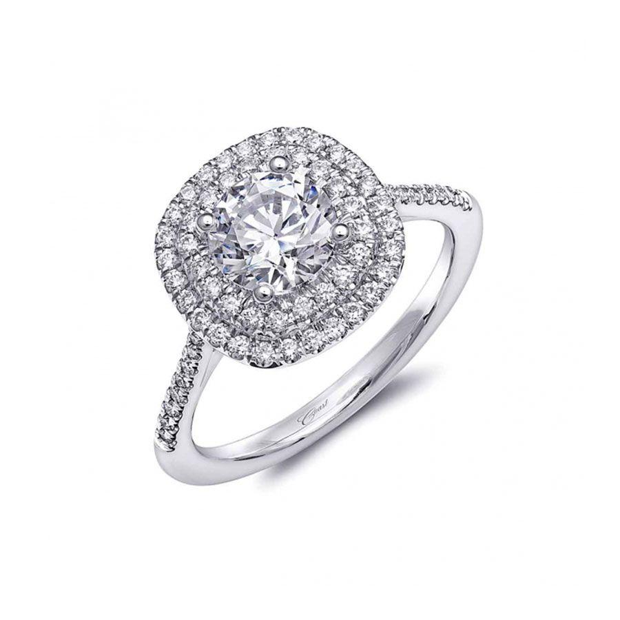 Coast Diamond Double Halo Engagement Ring