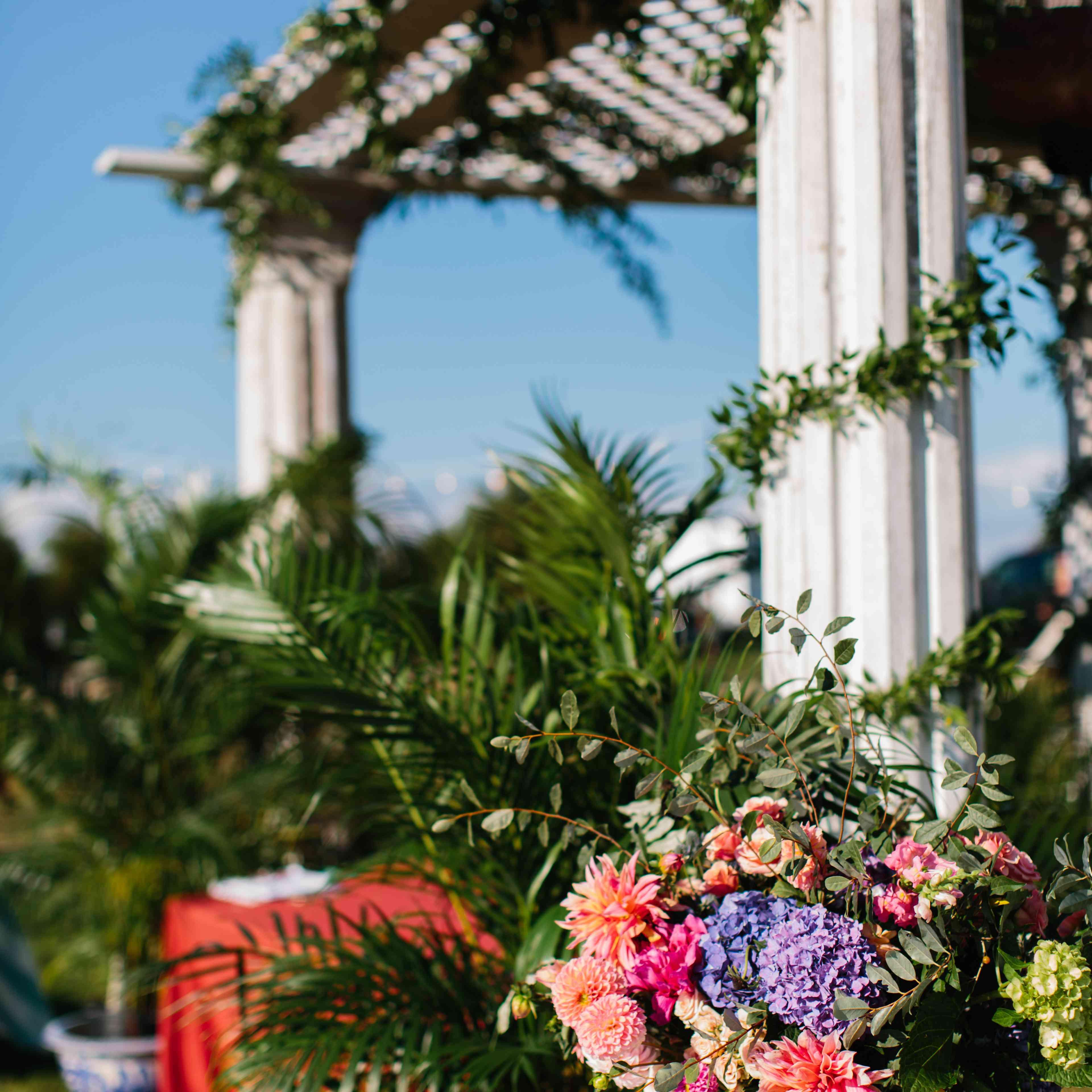 outdoor floral decor