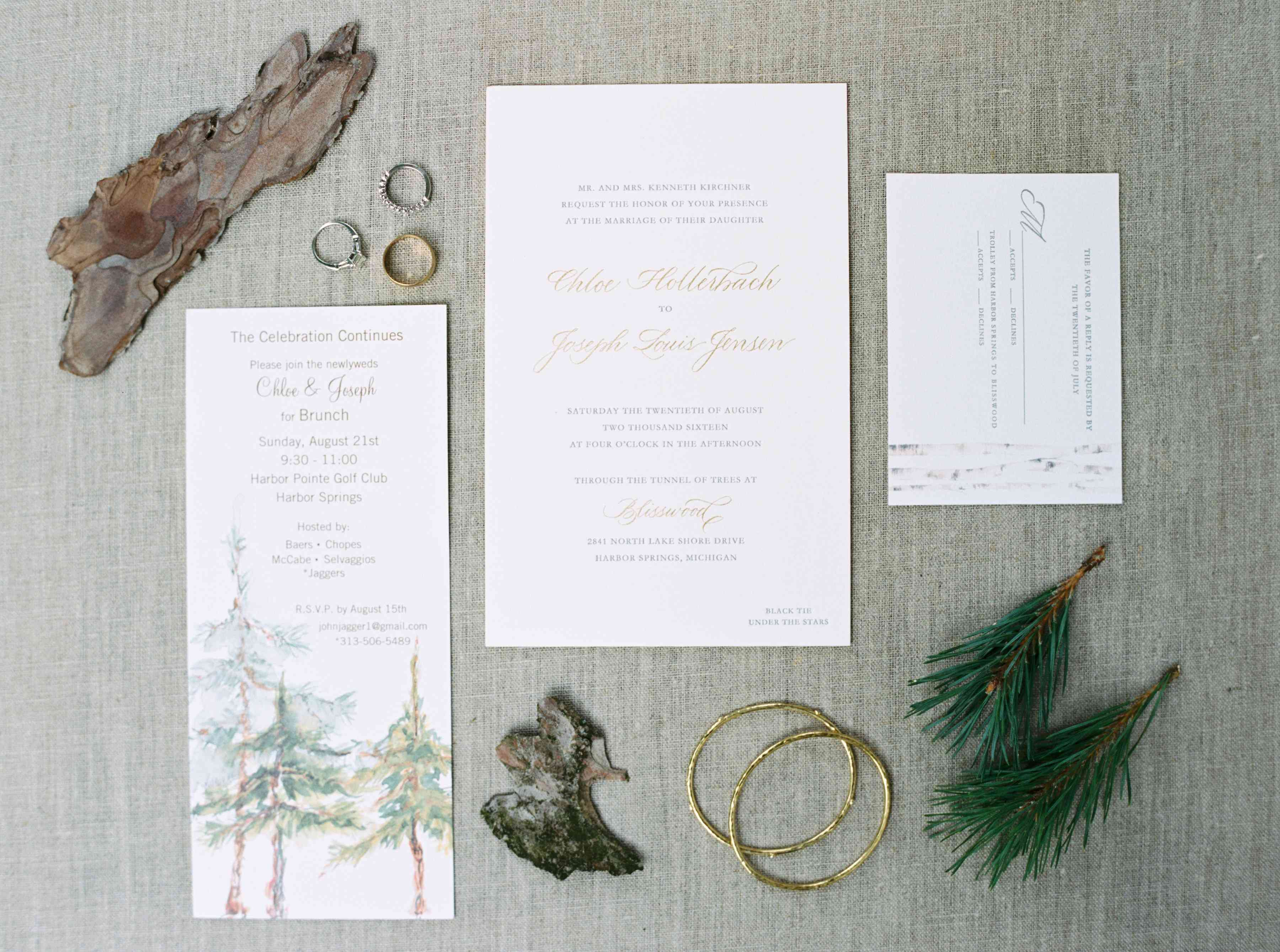 Forest-Inspired Invitation Suite