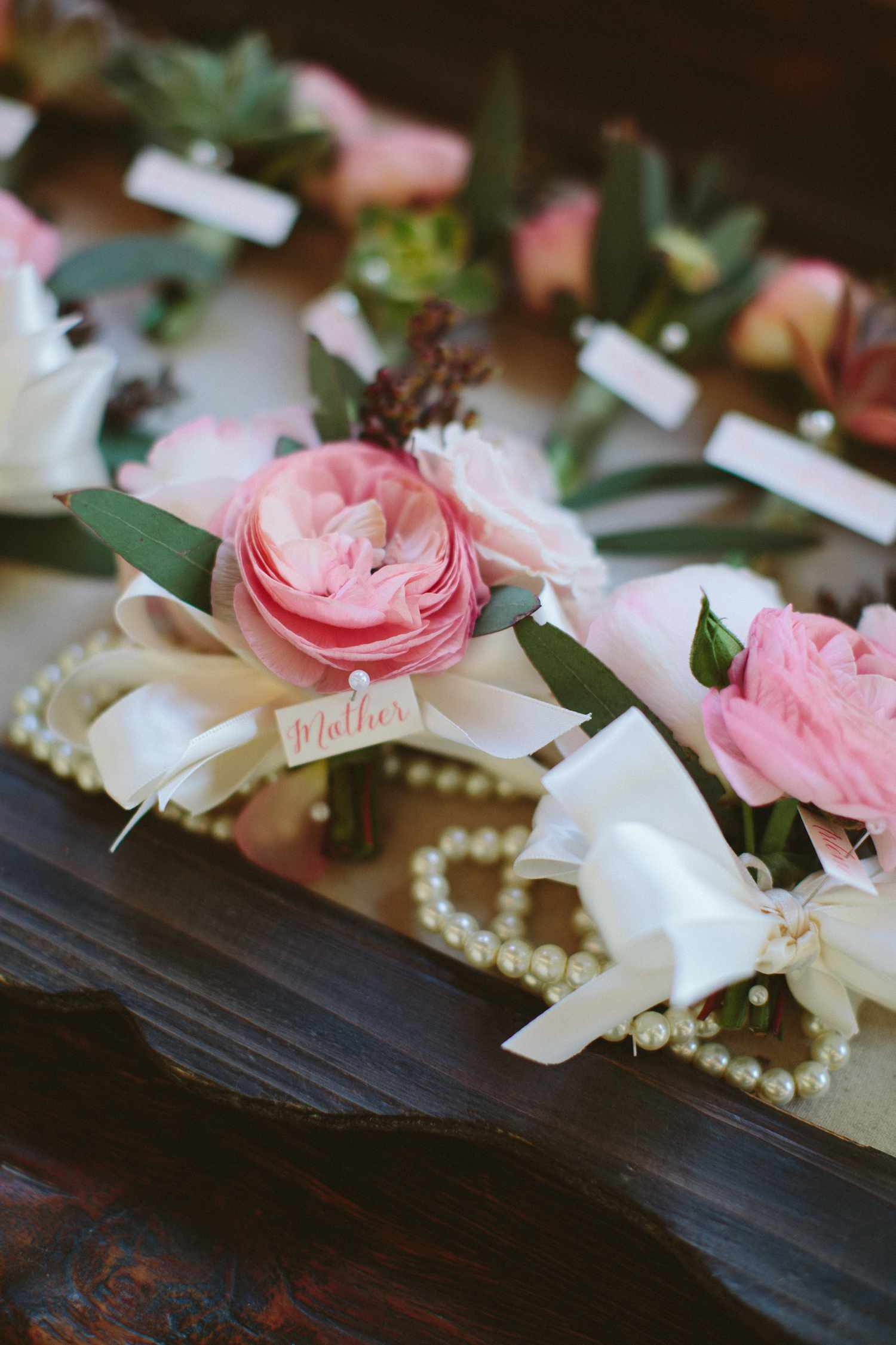 Mother's corsage pink flower