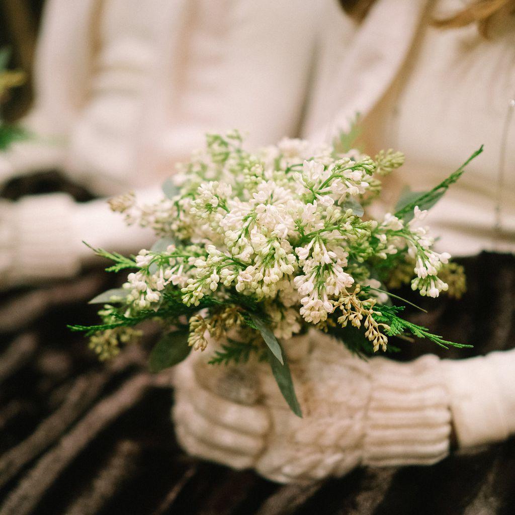 Winter lilac bouquet