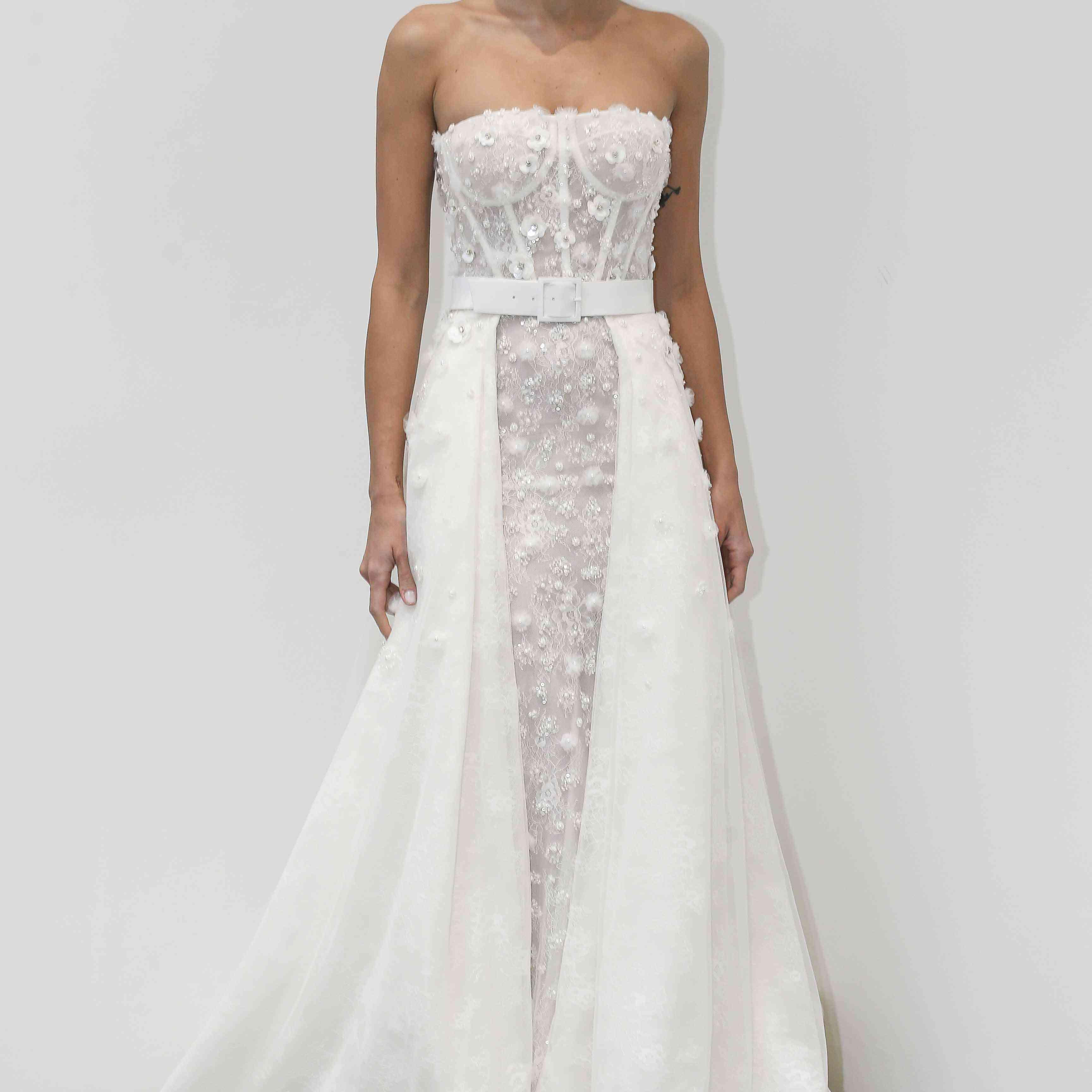 Gigi strapless wedding dress