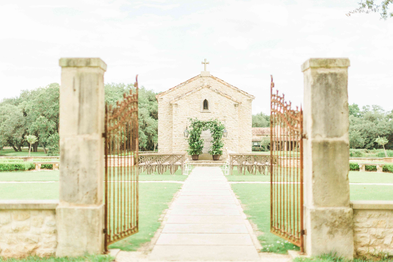 Historic chapel wedding ceremony