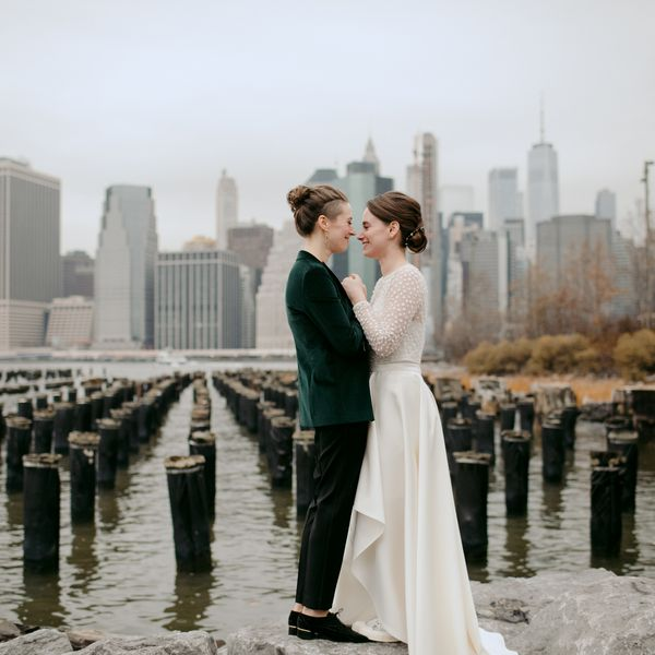 Lilla Goettler and Katie Hathaway were married at 501 Union in Gowanus, Brooklyn.