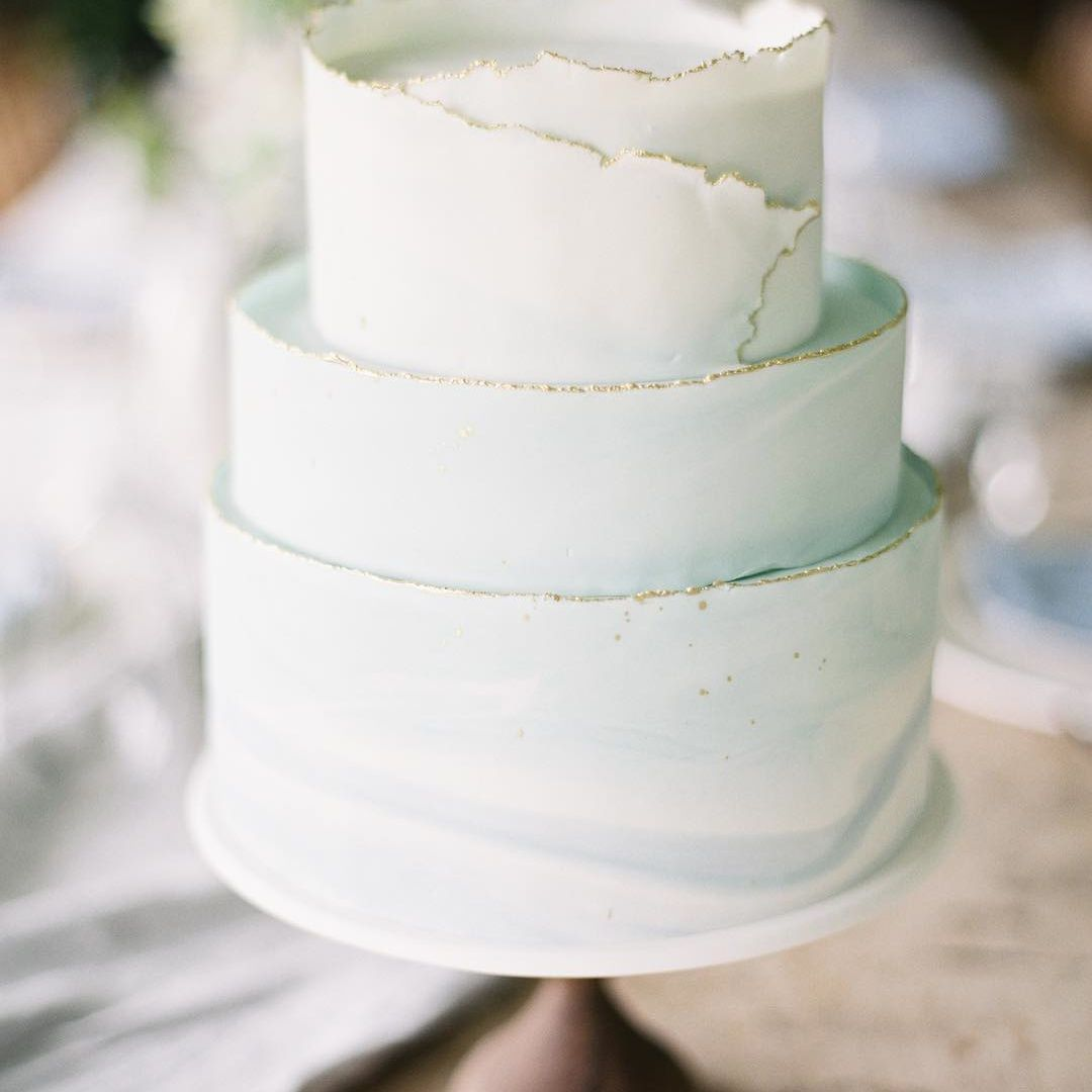 Modern Wedding Cakes Wrapped In Ruffles