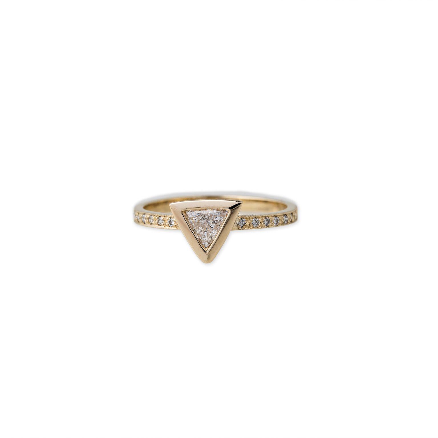 Jacquie Aiche Trillion Diamond Ring
