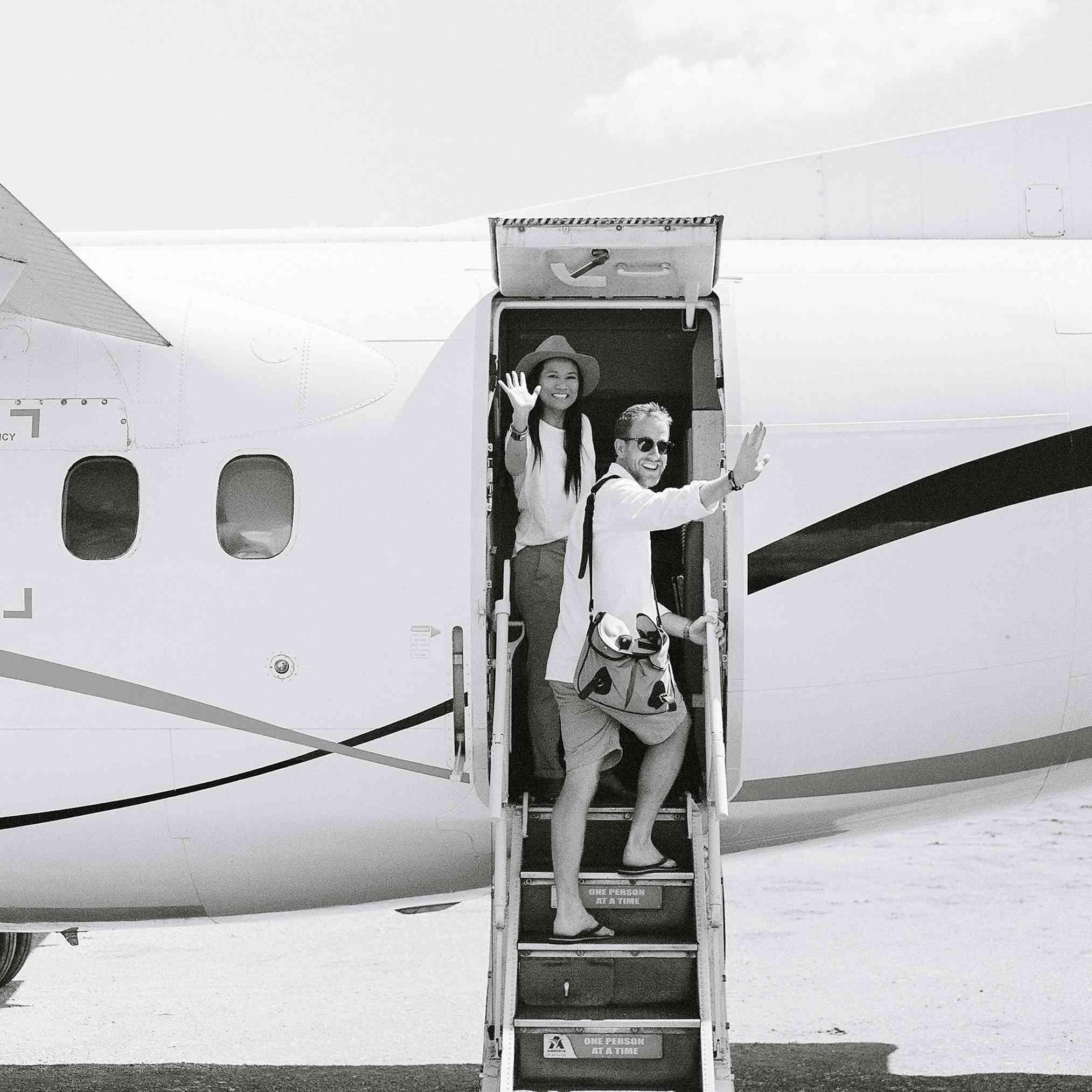 couple off to honeymoon