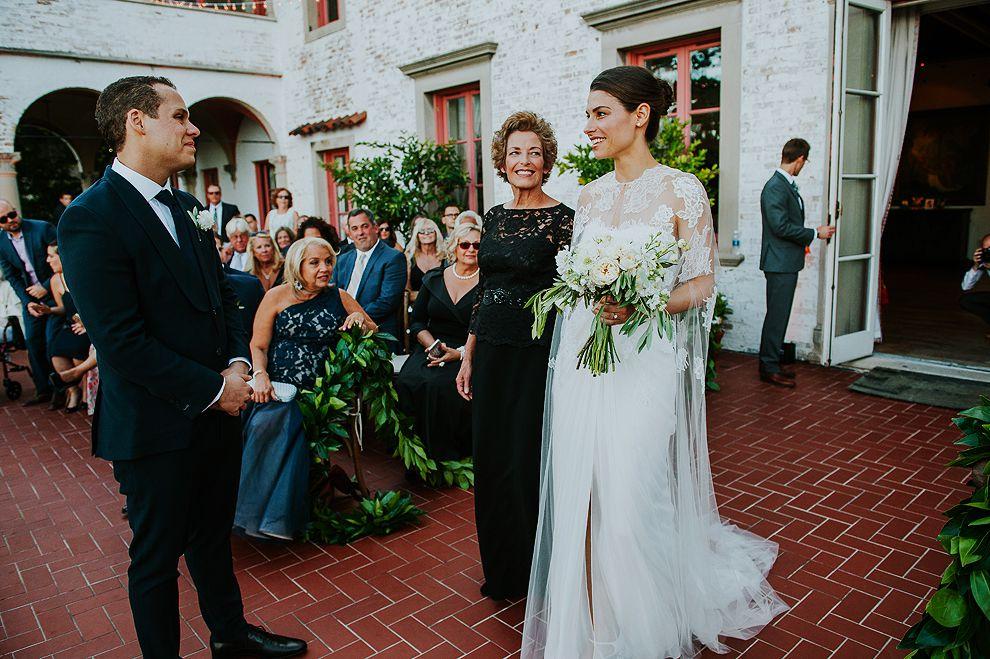 Bride Meets Groom at Altar
