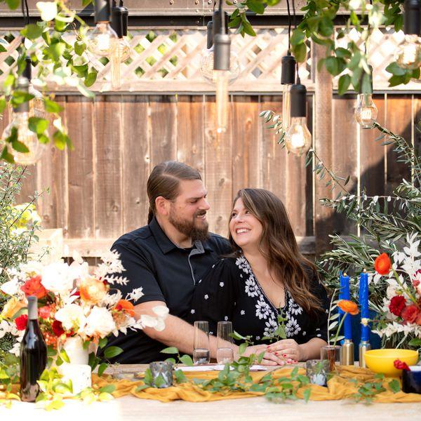 Jessica & Trevor Enjoying their surprise backyard honeymoon
