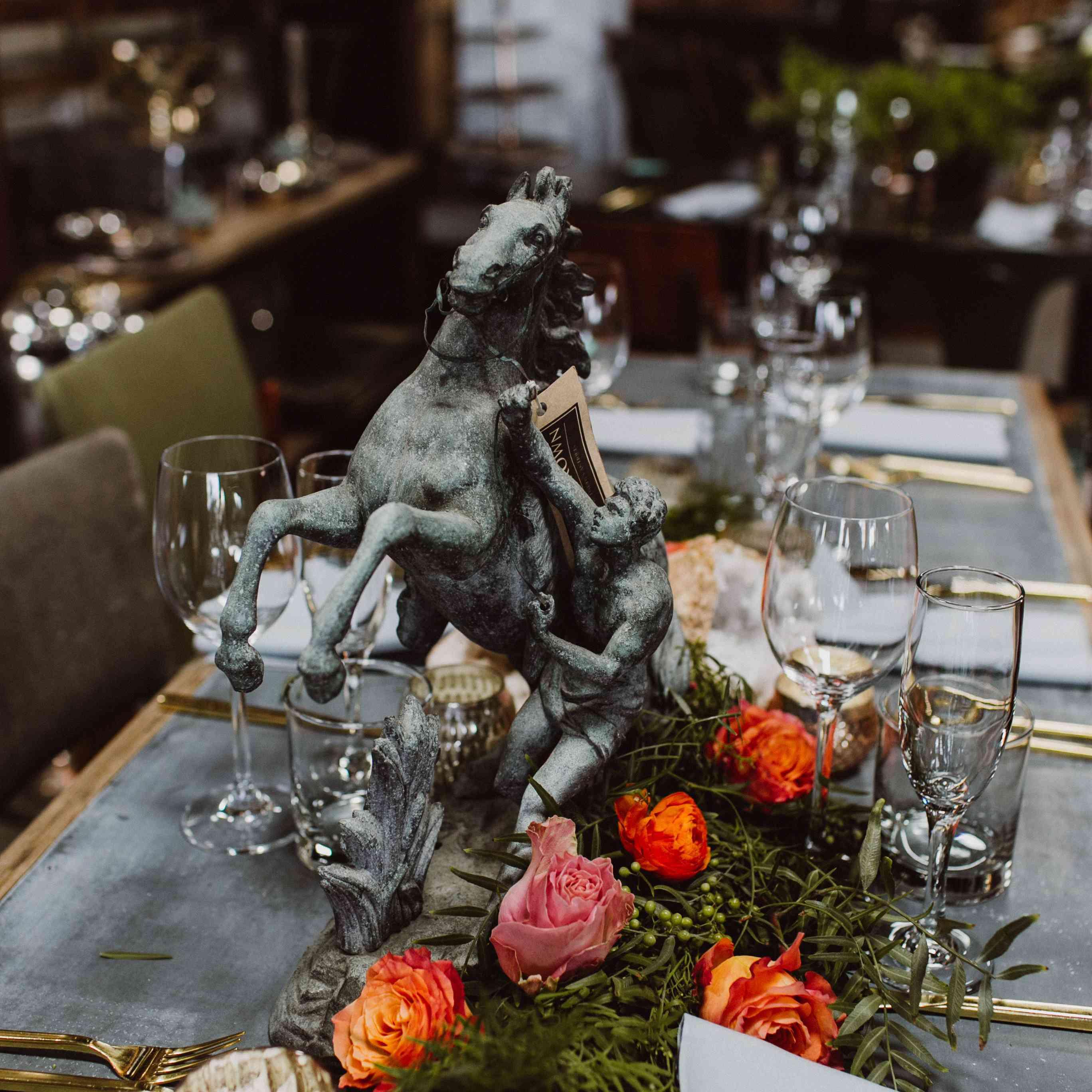 horse statue centerpiece