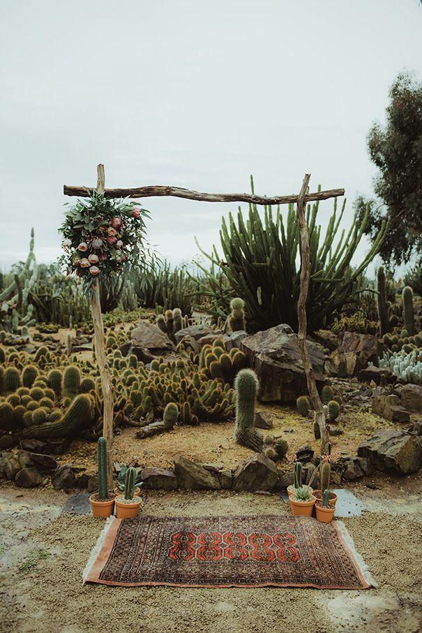 Desert-Inspired Wedding Ceremony Arch