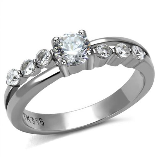 Marimor Stainless Steel Engagement Ring