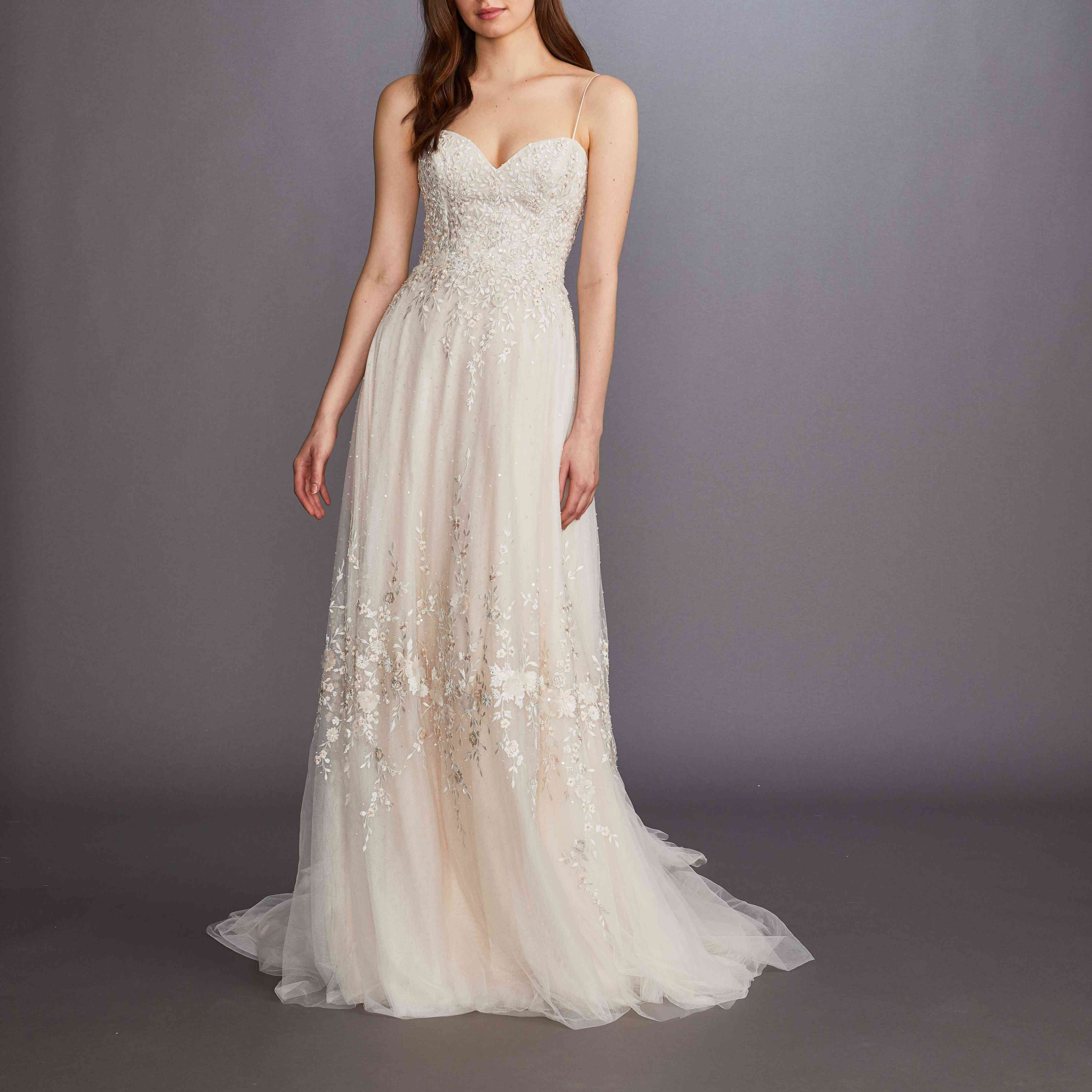 Linden sleeveless wedding dress by Lazaro