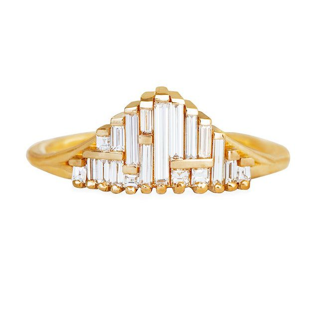 Artemer Art Deco Style Engagement Ring