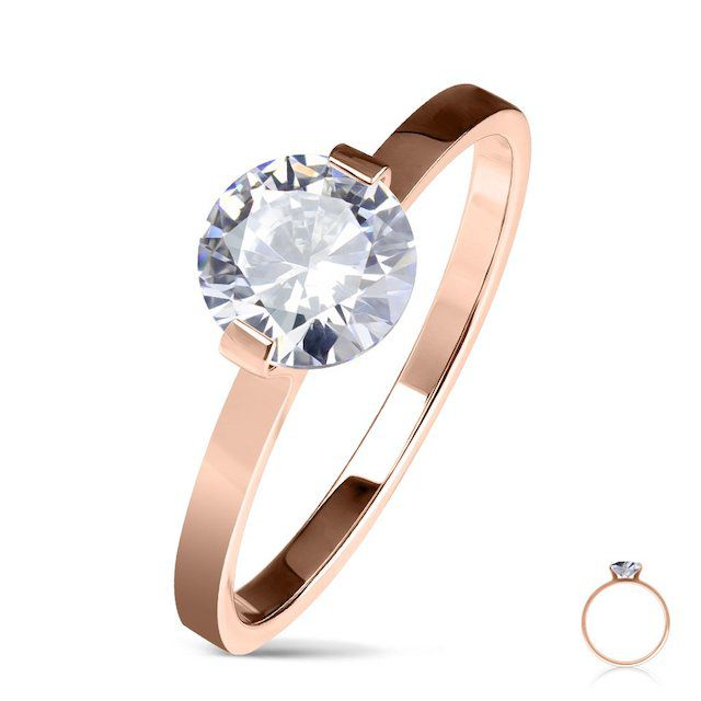 Blue Steel Rose Gold Adornment Ring