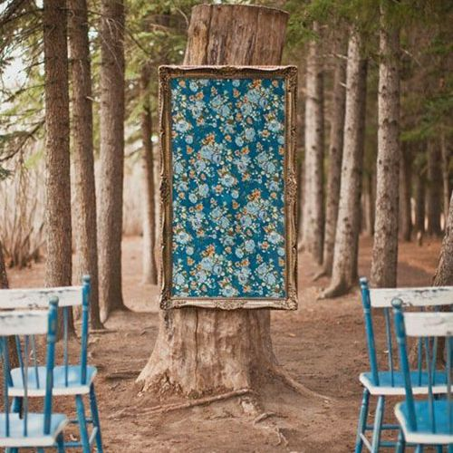 30 Unique And Breathtaking Wedding Backdrop Ideas: A Wedding Ceremony Backdrop Idea To Obsess Over: Oversized