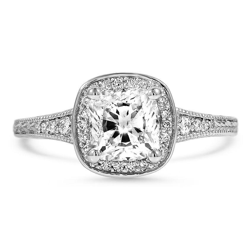 Brilliant Earth Vintage-Style Halo Diamond Ring