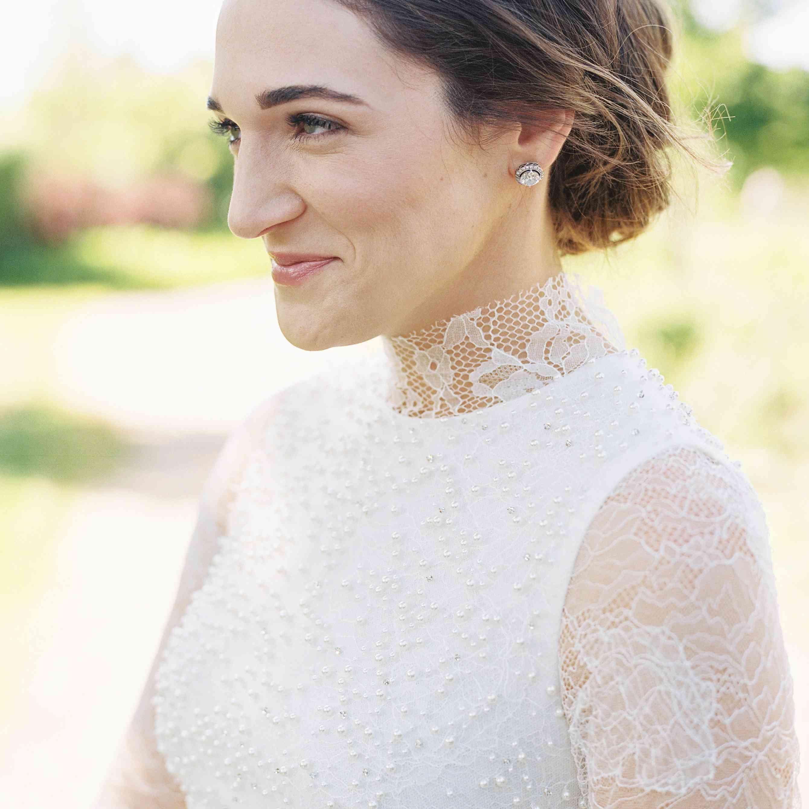 <p>Close-up of bride</p><br><br>