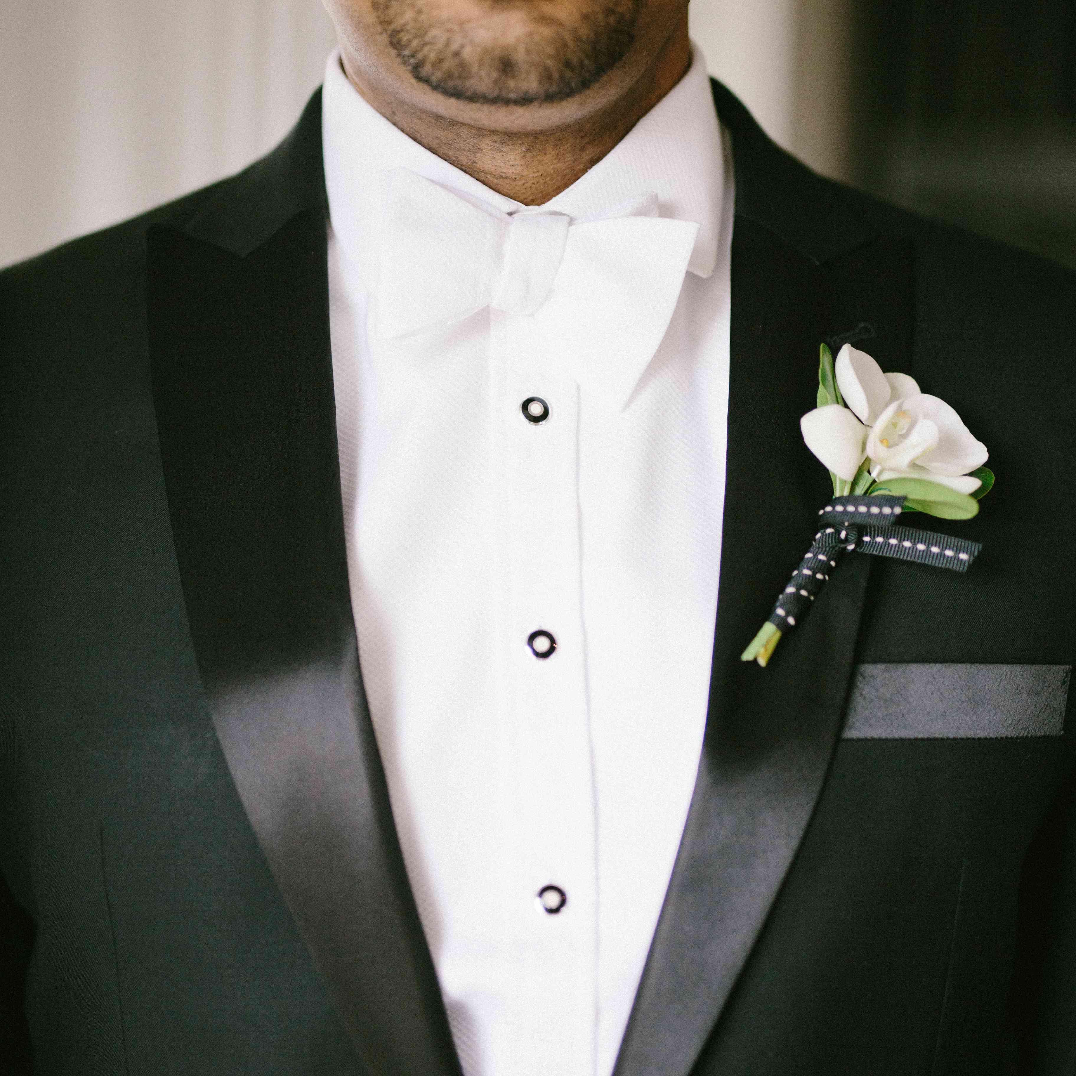 Groom in Black Tux