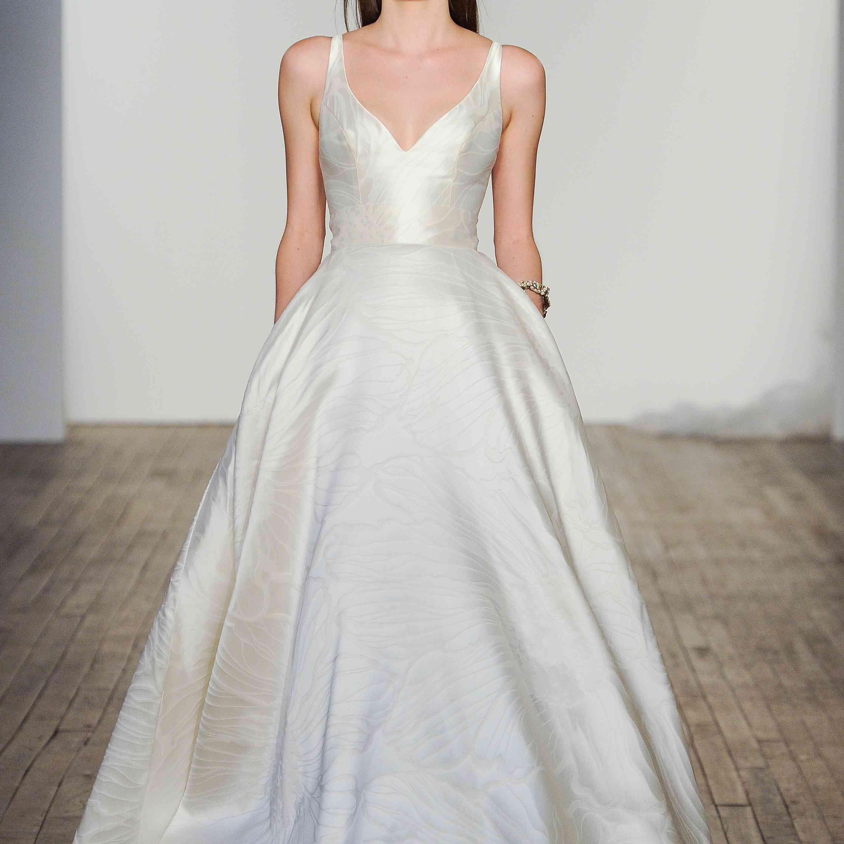 Aster sleeveless wedding ball gown
