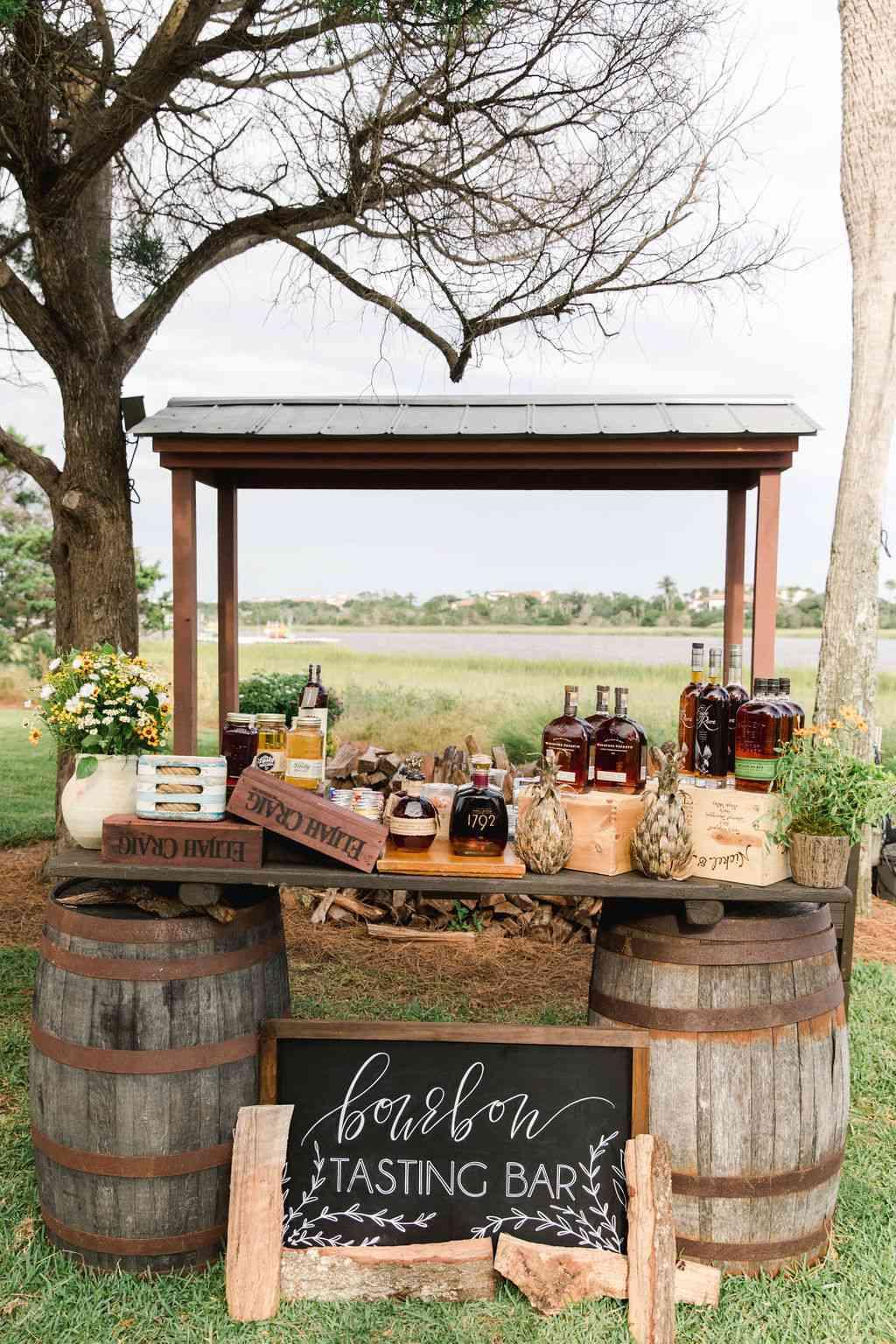wedding entertainment bourbon tasting bar