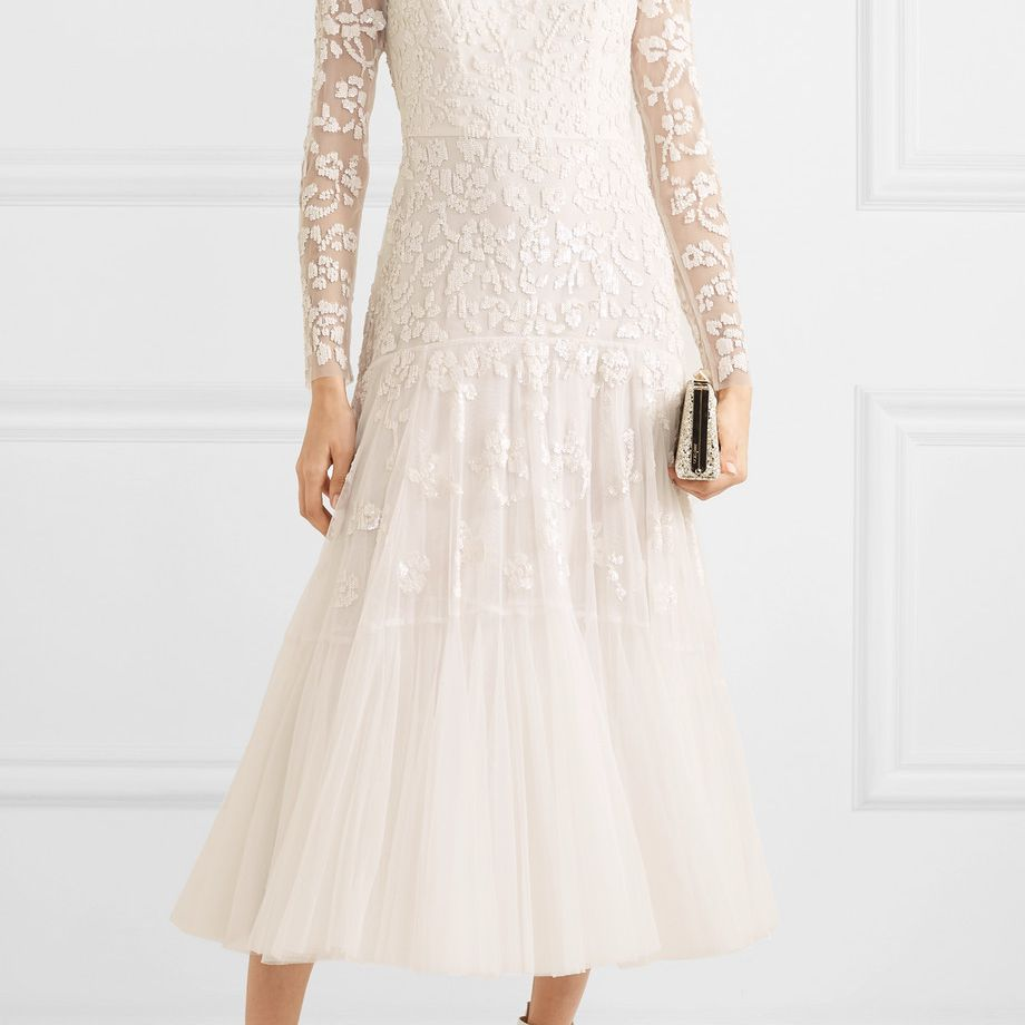 Needle & Thread Bella Embellished Tulle Midi Dress $1,130