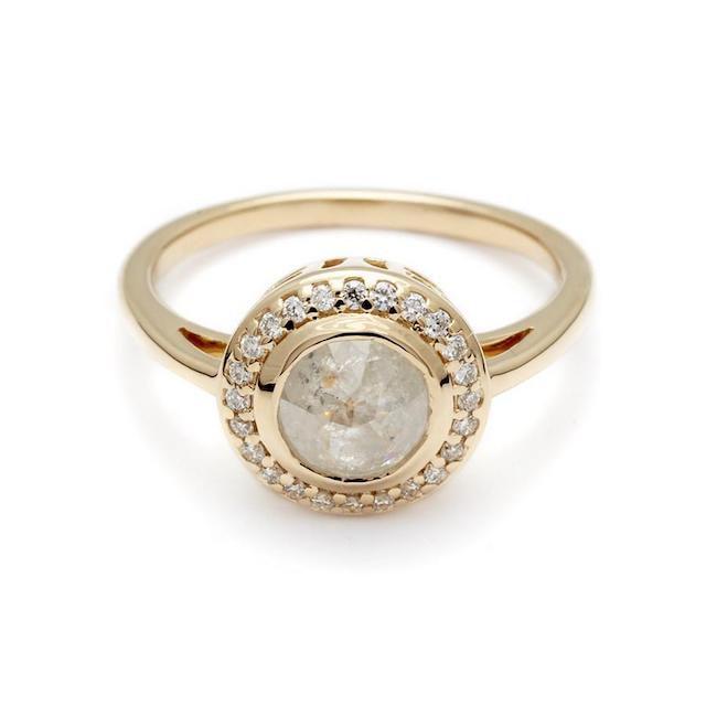 Anna Sheffield Bezel Round Rosette Ring