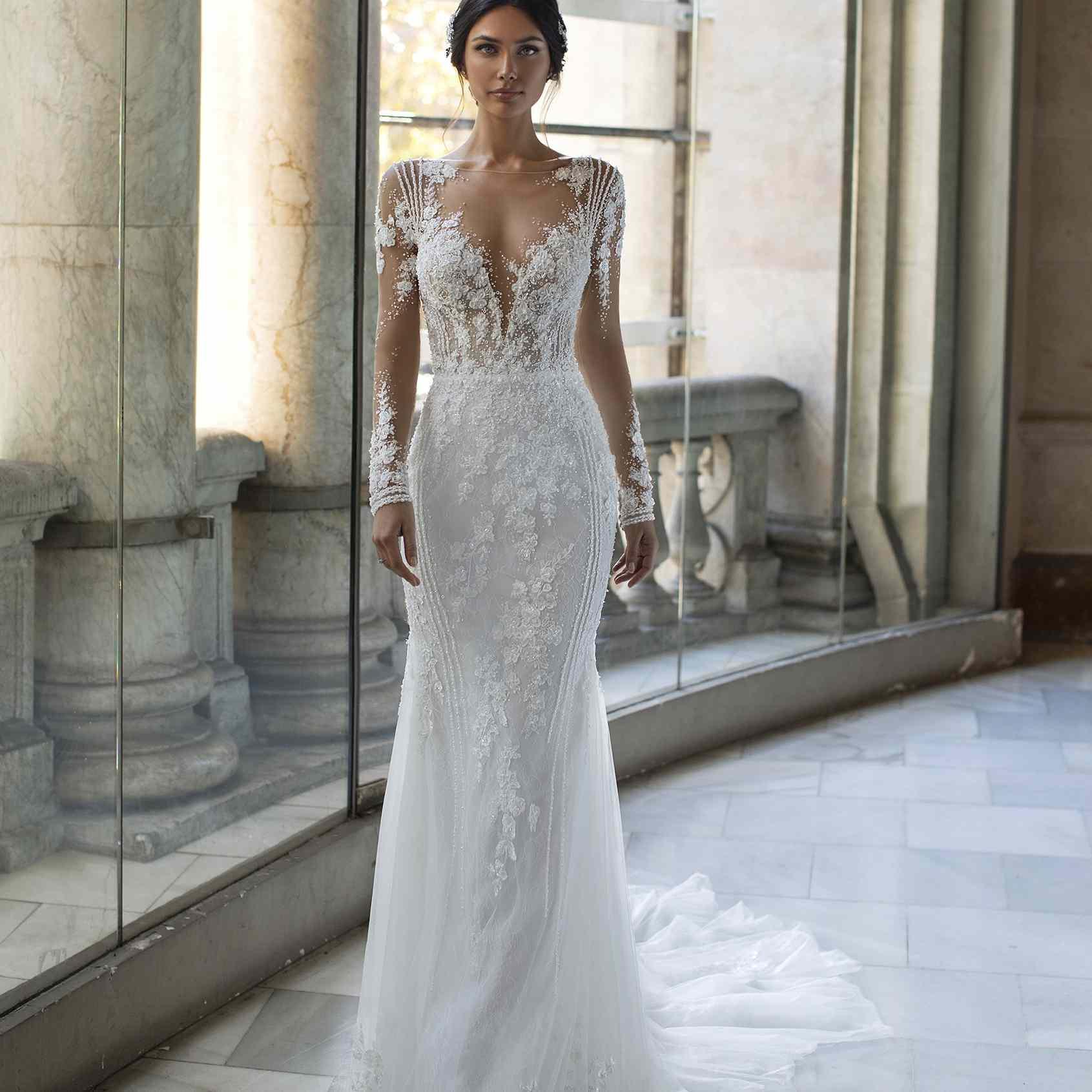 Pronovias Pickford Lace Wedding Dress, price upon request