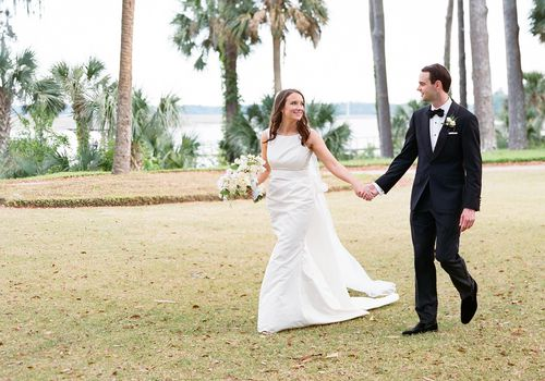 Bride and Groom at Palmetto Bluff
