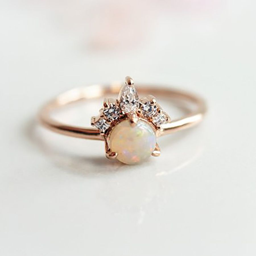 55 Opal Engagement Rings That Are Beyond Chic