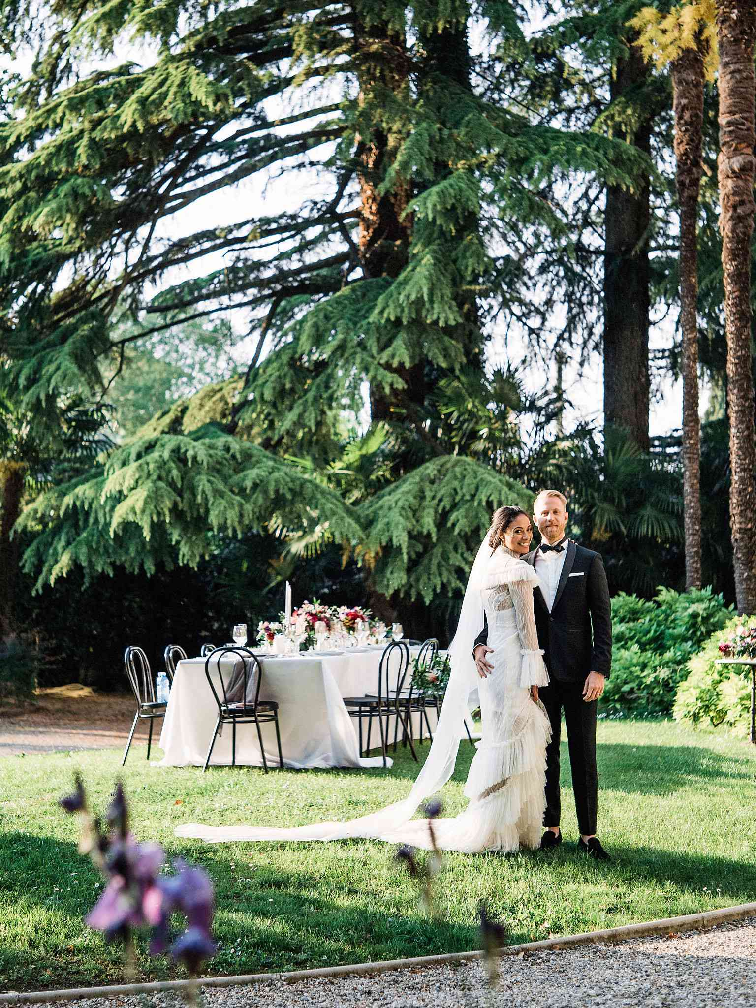 <p>Bride and Groom at Villa</p><br><br>