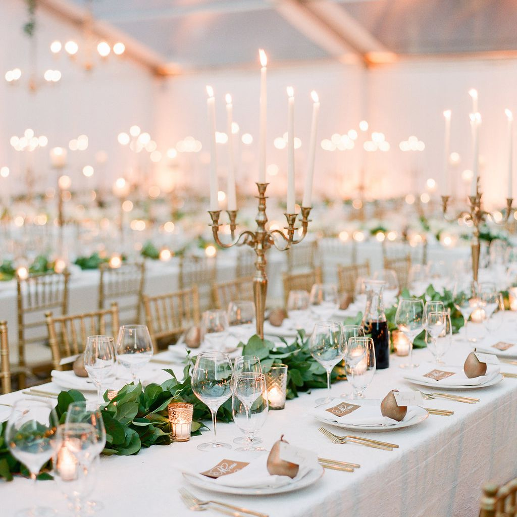 Reception Tent with Candles
