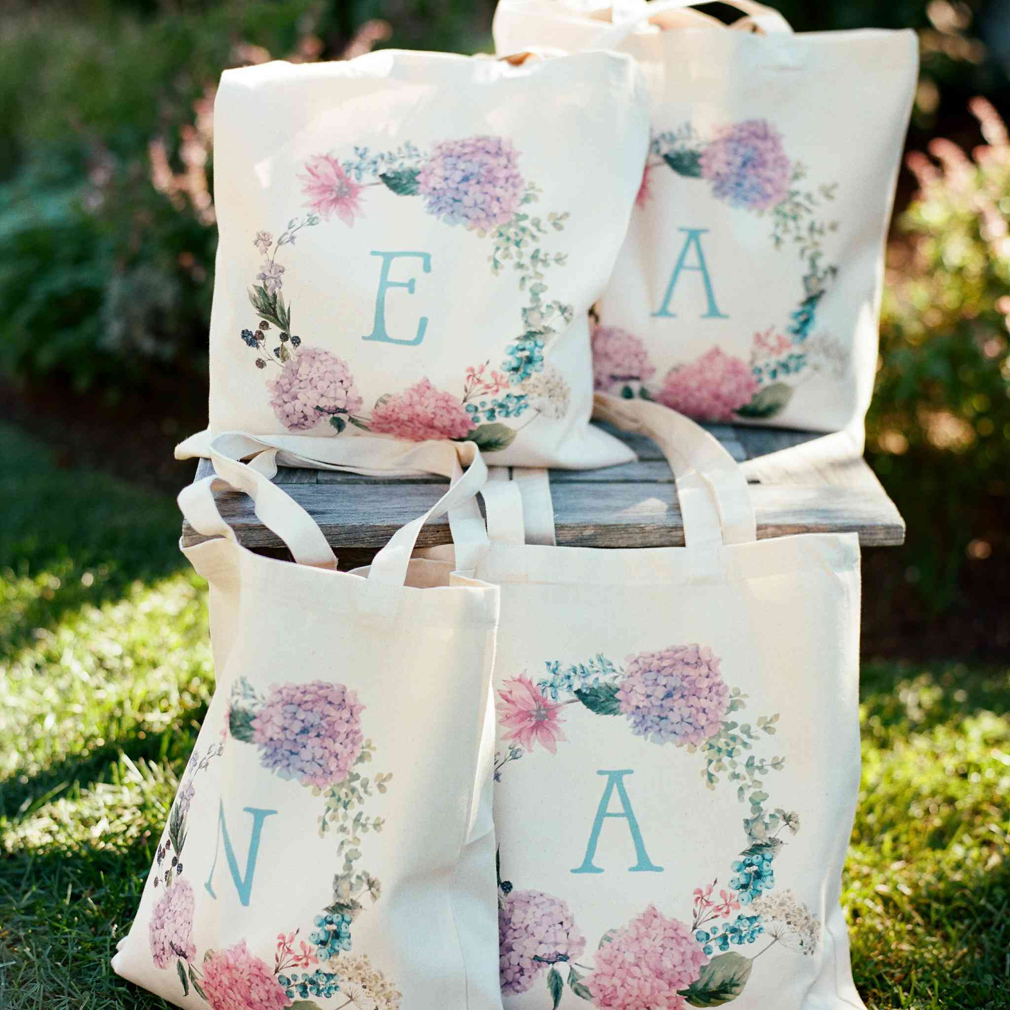 <p>Initial painted bridesmaids gifts</p><br><br>