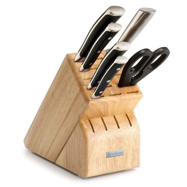 Wusthof Classic Ikon 7-Piece Knife Block Set