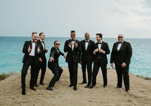 <p>groom and groomsmen</p>
