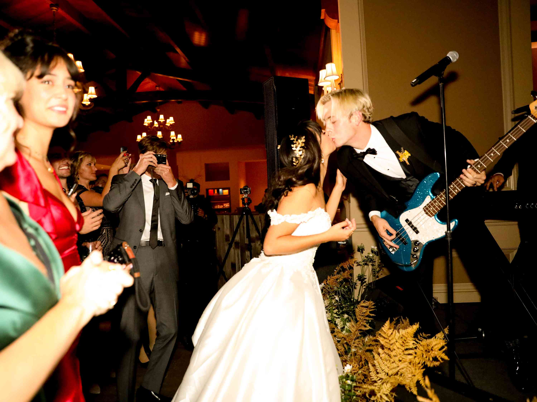 savannah and riker wedding, groom performing