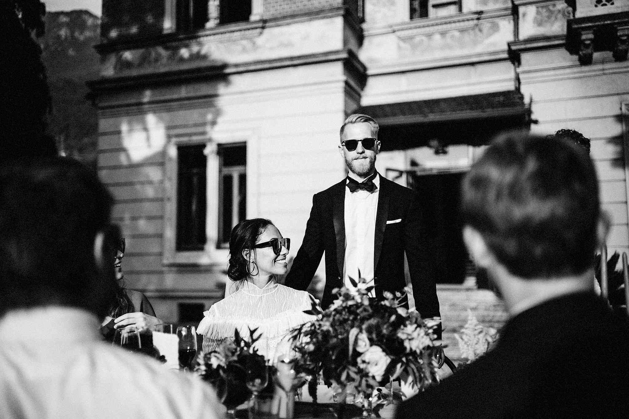 <p>Newlyweds at Dinner</p><br><br>