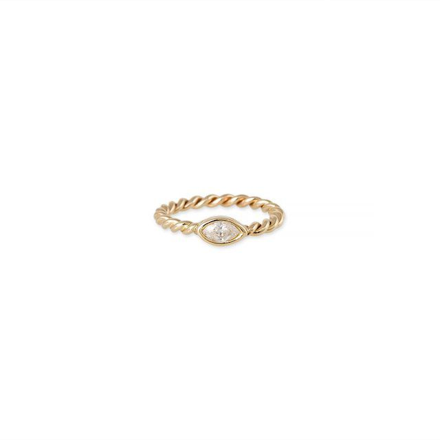 Jacquie Aiche Twisted Marquise Diamond Stack Ring
