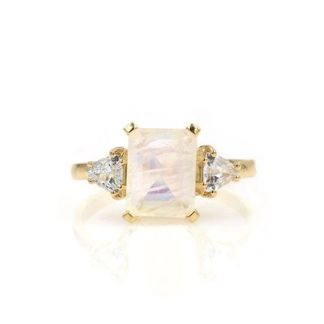 Charlie and Marcelle Moonstone Sapphire Muse Ring